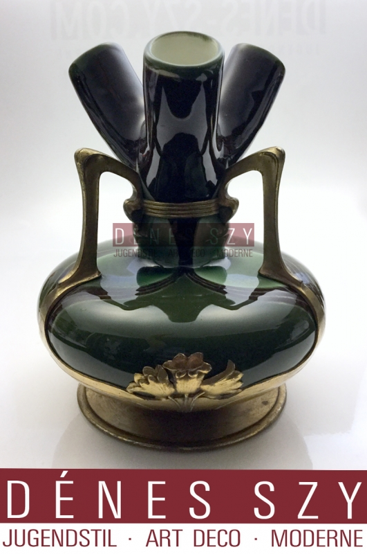 OSIRIS vaso in stile liberty con tre colli Germania 1900 circa