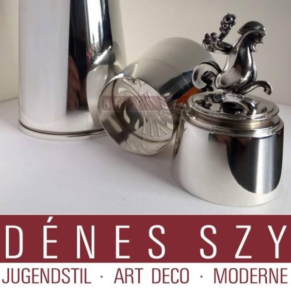 GEORG JENSEN SILBER HANDMADE PYRAMIDE Cocktail Shaker 774
