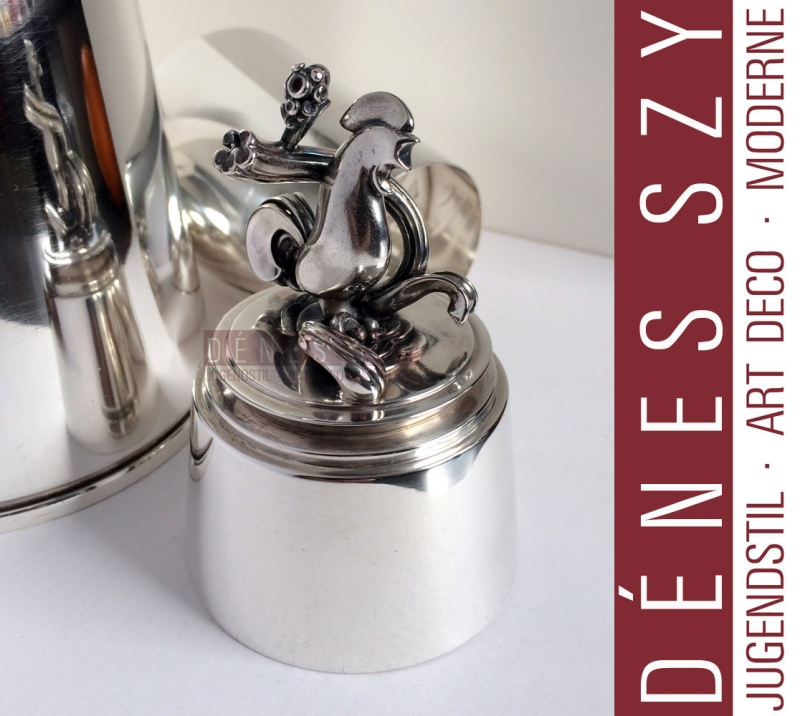 Georg Jensen Sterling Art Deco Pyramide Cocktail Shaker 774