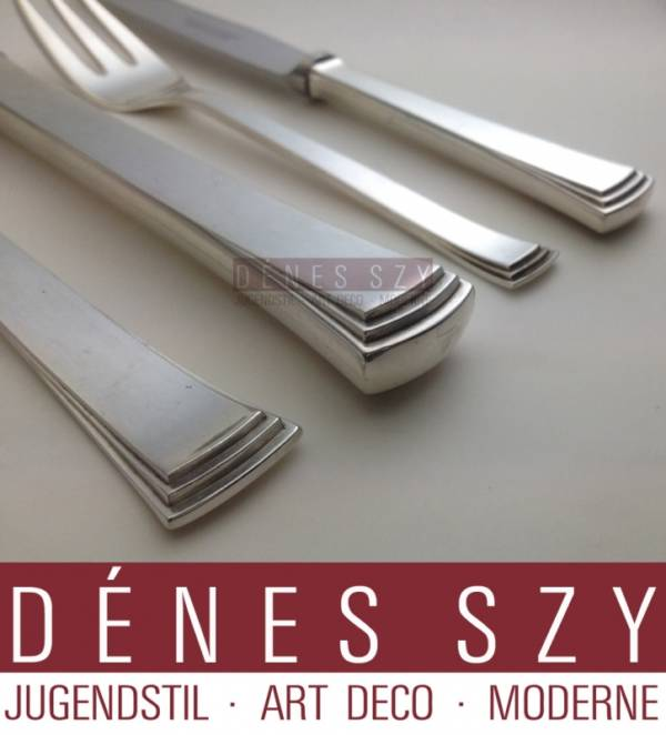 Evald Nielsen silver cutlery Congo 32, dinner fork