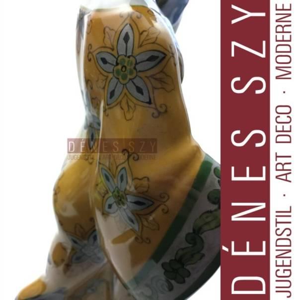 HOCHZEITSZUG KPM BERLIN Jugendstil Porzellan Figur, Chinesin mit Papagei