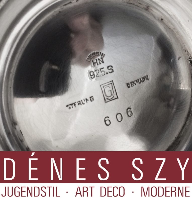 GEORG JENSEN STERLING SILBER PYRAMIDE #606 Sauciere