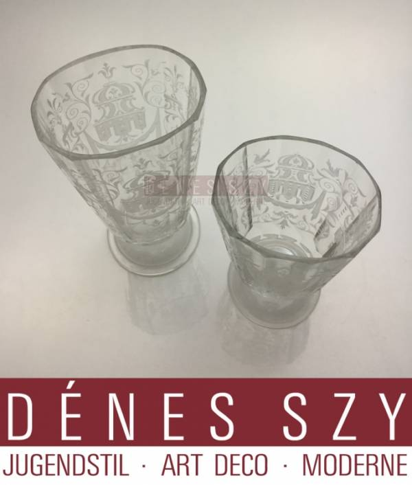 Lobmeyr Vienna Austria, handmade crystal water glass, Maria Theresia