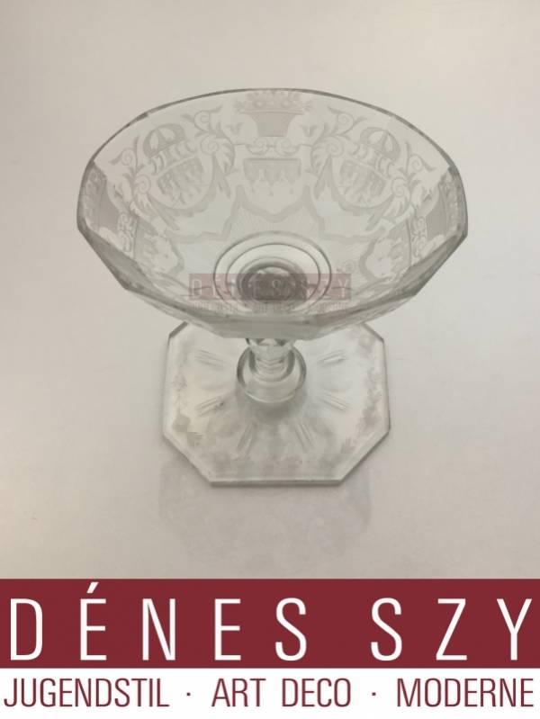 Lobmeyr Vienna Austria Maria Theresia pattern crystal bowl