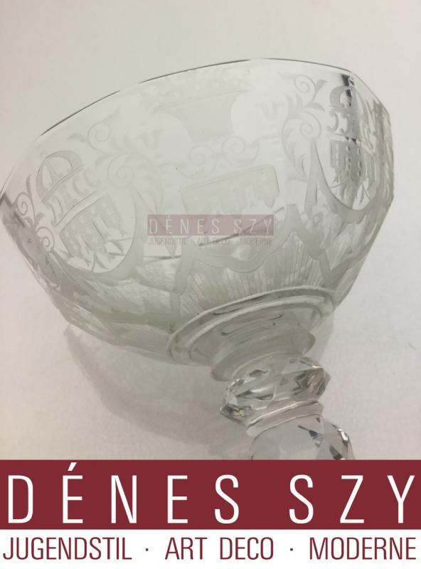 bicchiere in vetro cristallo di Lobmeyr Vienna 1910 modello Maria Theresia