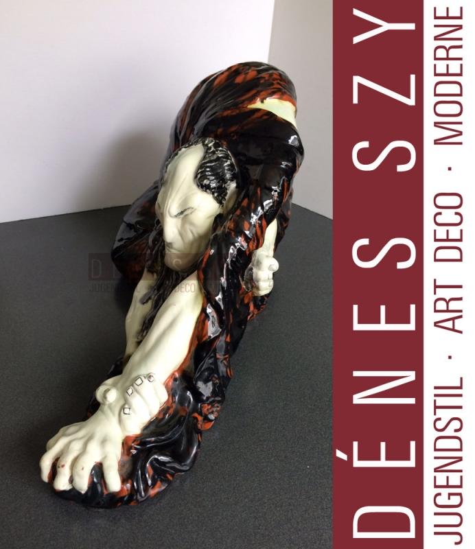 The Habgians greed ceramic figure Bernhard Hoetger Darmstadt Laeuger Karlsruhe