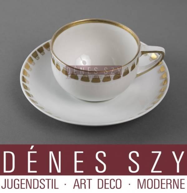Henry van de Velde Art nouveau Porcelain china Tee Tasse auf Ut.