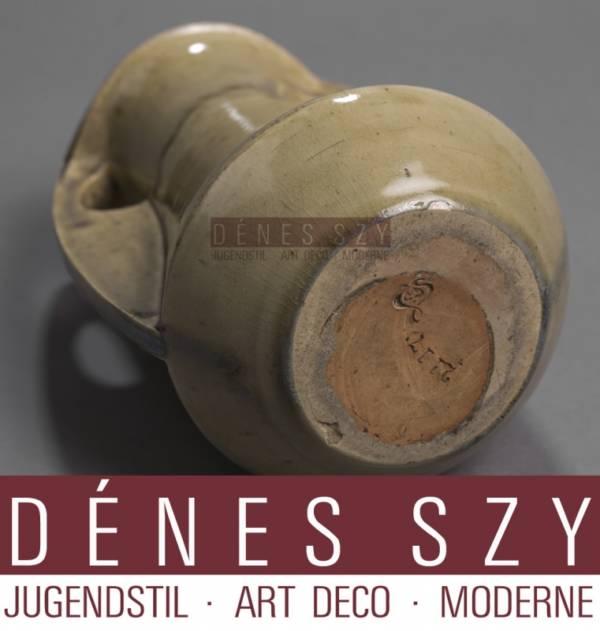 Henry van de Velde Art Nouveau stoneware vase, Hanke 2117