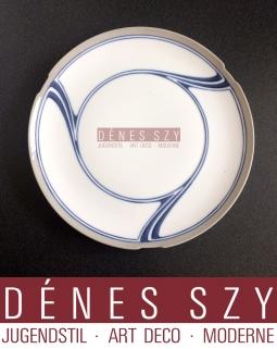 MEISSENER JUGENDSTIL PORZELLAN Dessertteller Muster SAXONIA ca 1