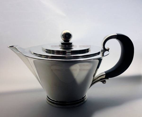 Georg Jensen Sterling silver Pyramid pattern tea service 600 A