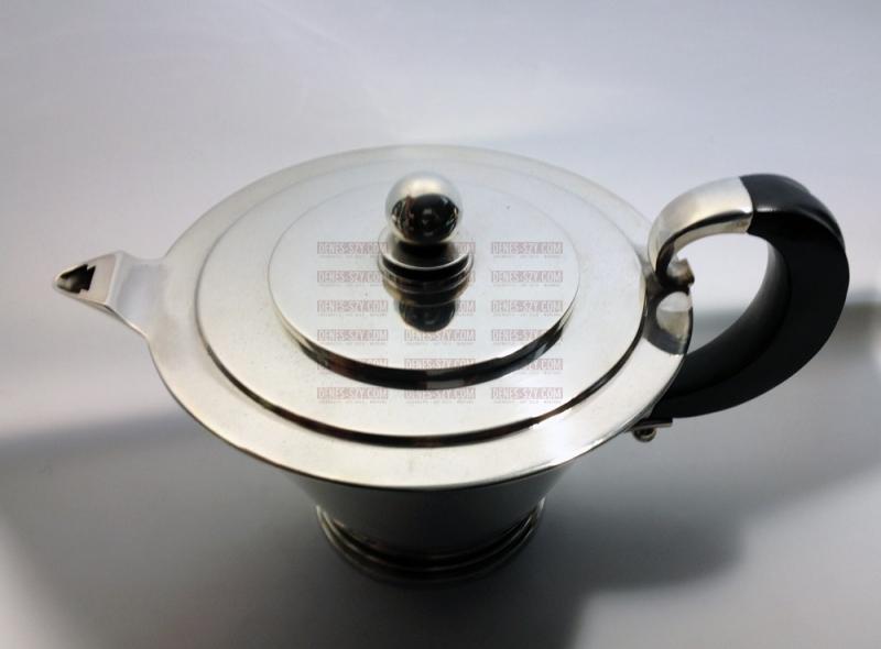 Georg Jensen Sterling silver Pyramid pattern tea service 600 A