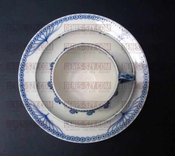 MEISSEN Fächer- / Doldenmuster, Dessertteller Jugendstilporzella