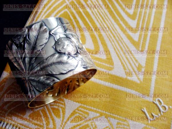 Art Nouveau damascato tovagliolo, Peter Behrens 1900