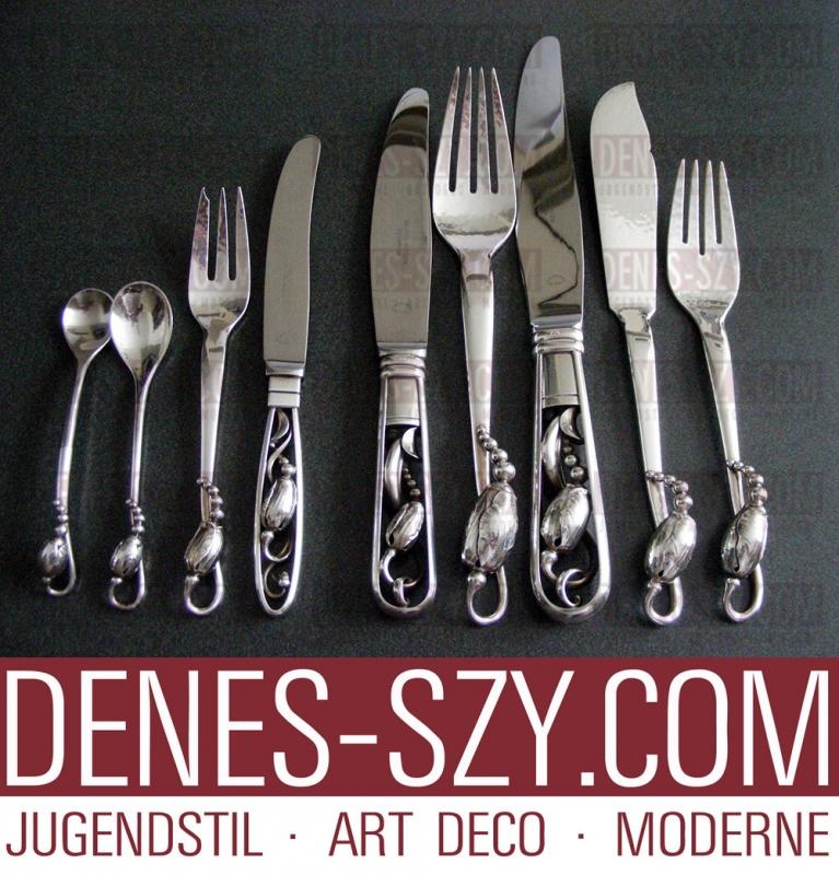 coltello da frutta #84, GEORG JENSEN argento posate, Design Magnolia