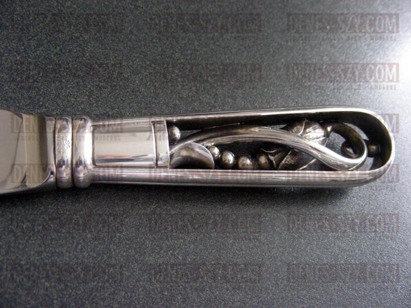 Georg Jensen Silber Magnolia #84 Tortenmesser Essbesteck