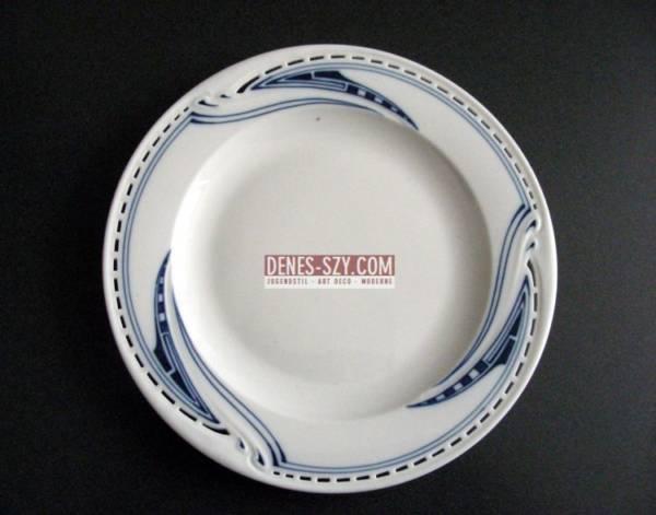 Henry van de Velde Whiplash Peitschenhieb porcelain pierced dessert plate Meissen
