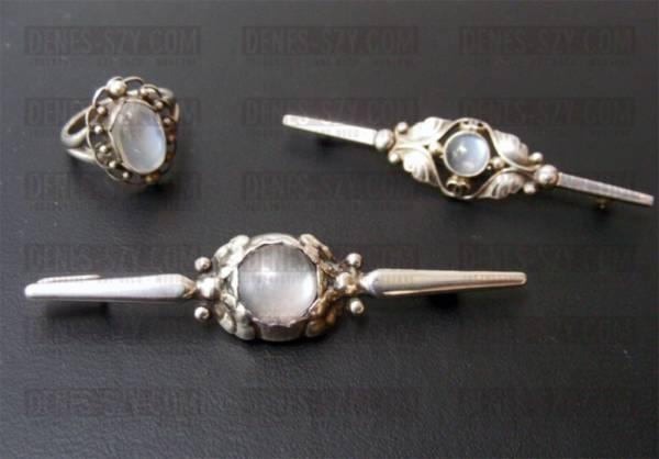 spilla # 117, Georg Jensen argento, gioielli