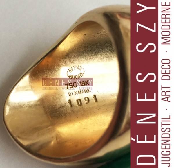 Georg Jensen 18k Goldring # 1091 Nanna Ditzel 1956