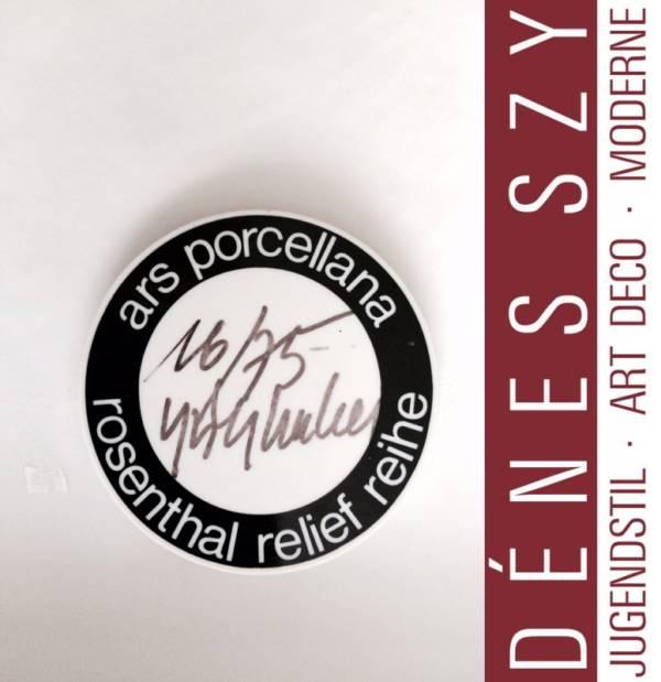 HAP Grieshaber Rosenthal porcelain object Pan 1968