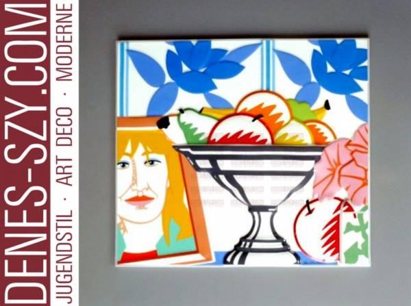 Wesselmann, Rosenthal limeted Art porcelain object Still life 1988