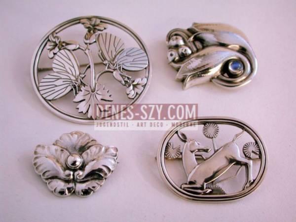 spilla d'argento # 283 di Georg Jensen, Design di Arno Malinowski