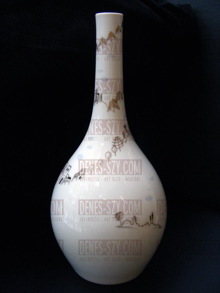 KPM Berlin Porzellan, Vase Blumenflasche, um 1955 ITALIENREISE