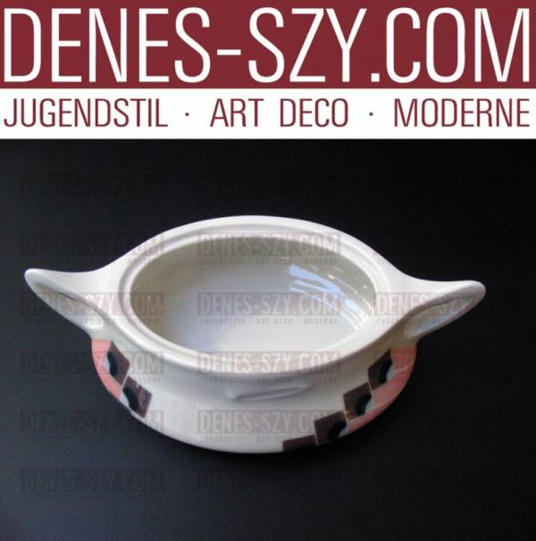 Meissen, German Art Nouveau Porcelain, Misnia pattern sugar bowl, box Designed by Theodor Grust 1904