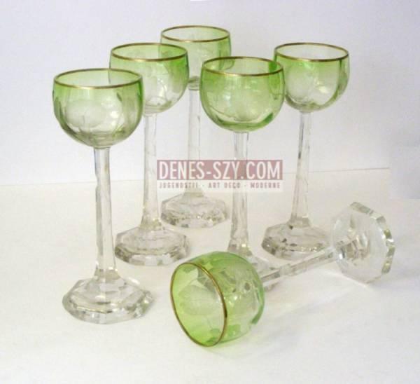 Moser, Karlsbad Weinglas / Jugendstil Trinkglas