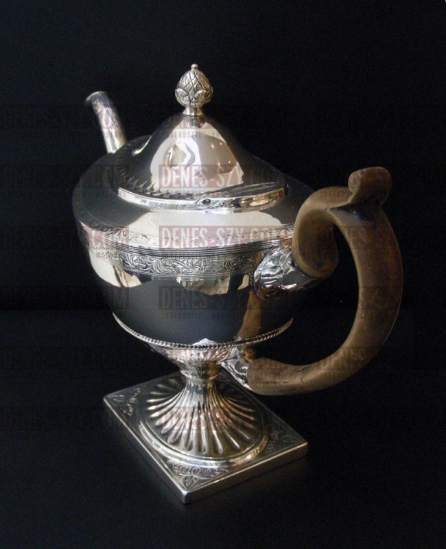 Klassizistische Sterling Teekanne, Edinburgh 1796 - EMPIRE