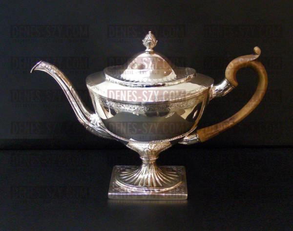 English Sterling Silver Tea Pot, Edinburgh 1796