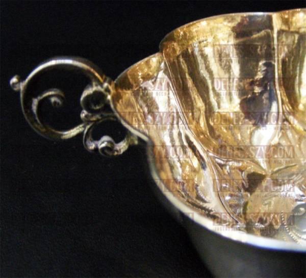 Brandweinschale Barock Silber, deutsch um 1680 / 1700