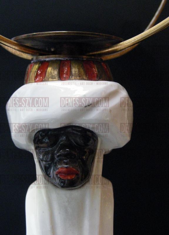 Meissen German Art Nouveau porcelain candelabra The Magi, Kleinhempel