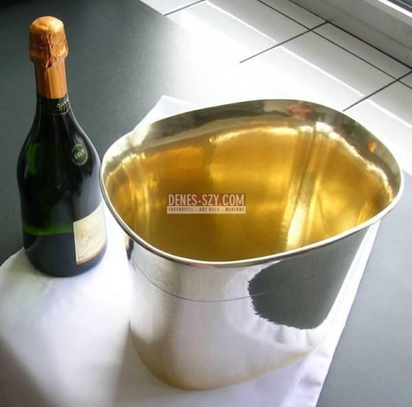 Herbert Zeitner silver 835 Art Deco wine cooler Berlin Germany