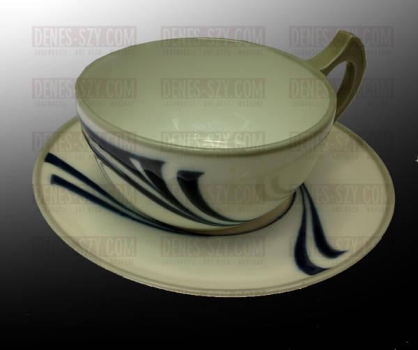 Meissener Jugendstil 1900 O.E. Voigt Teetasse Muster Saxonia
